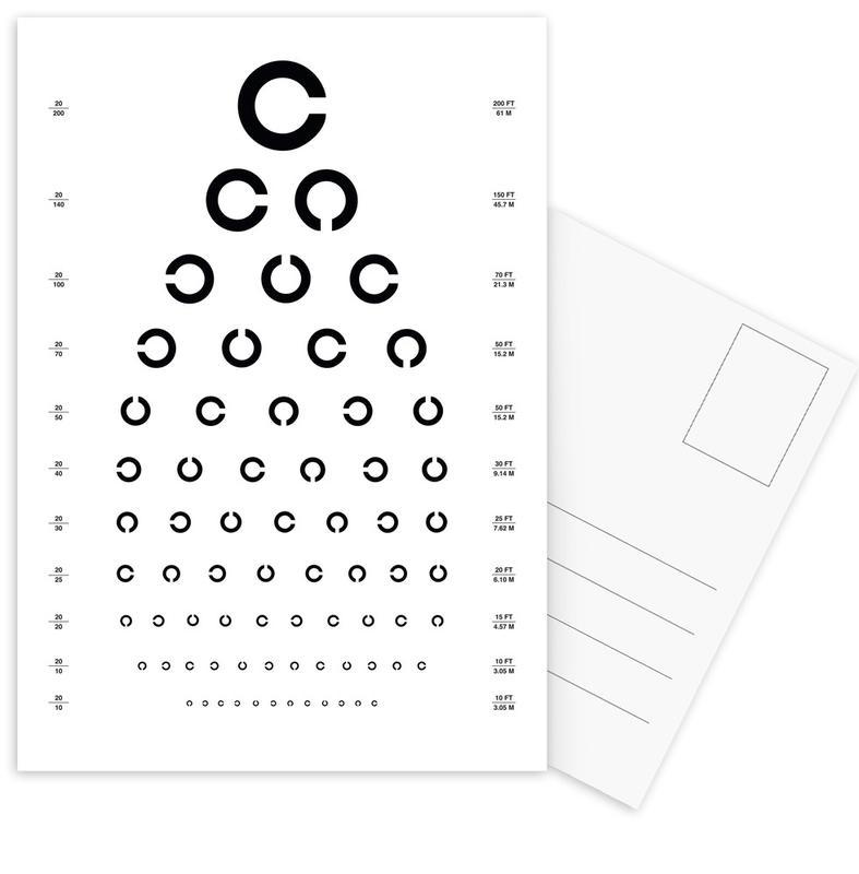 Eye Chart Japanese Design cartes postales