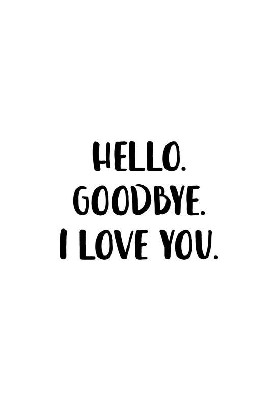 Hello Goodbye tableau en verre