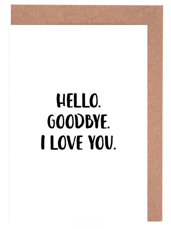 Hello Goodbye -Grußkarten-Set