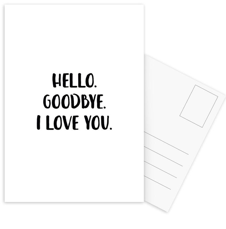 Hello Goodbye cartes postales