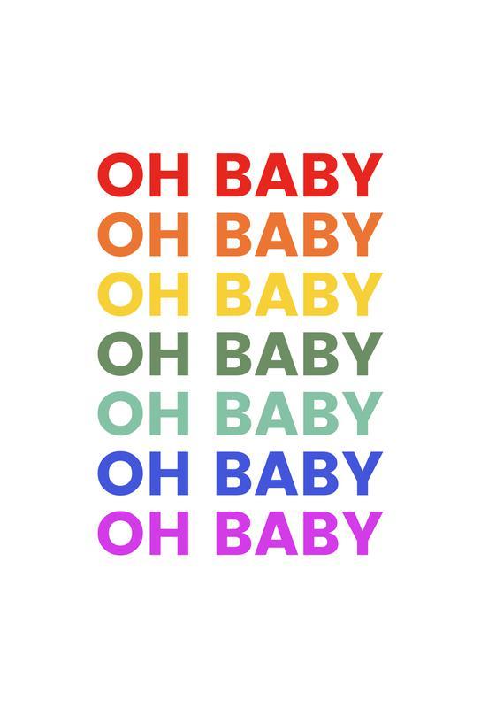 Oh Baby Rainbow tableau en verre