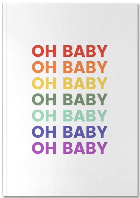 Oh Baby Rainbow Notebook