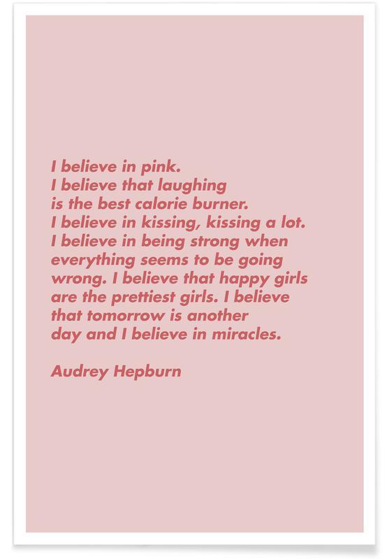 Motiverende, Believe in Pink Plakat