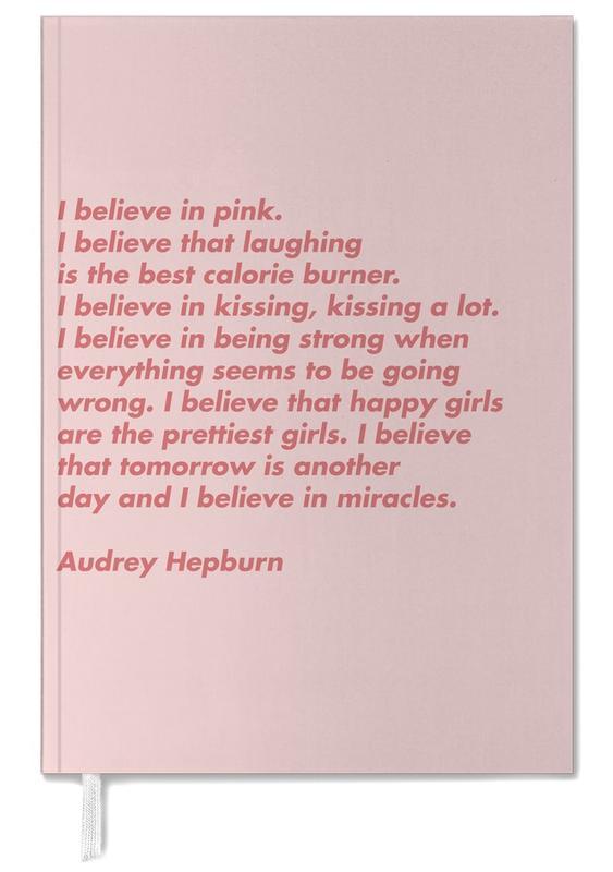 Believe in Pink Personal Planner