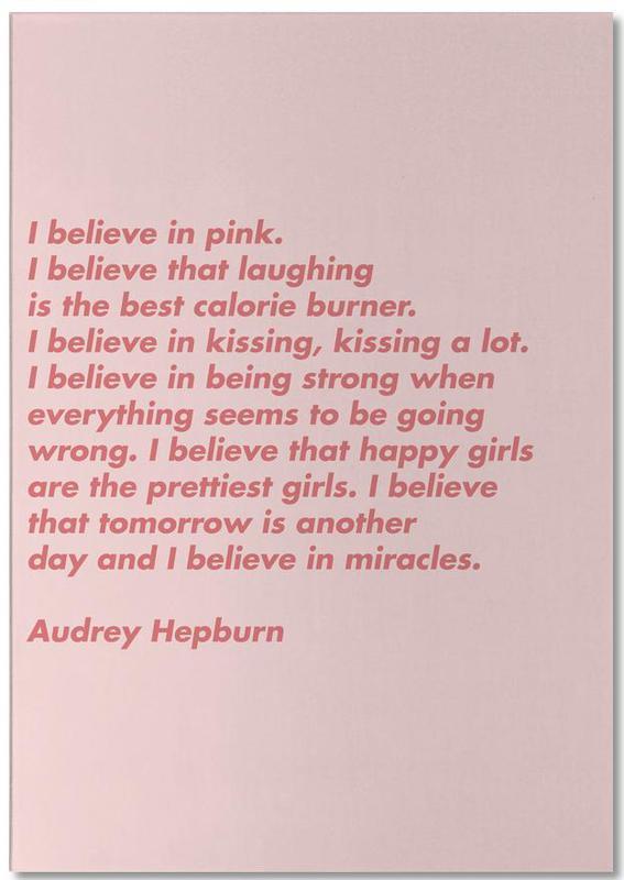 Believe in Pink -Notizblock