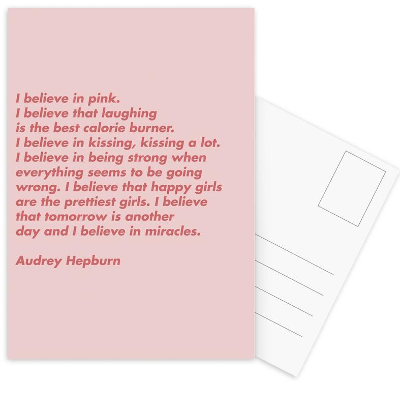 Believe in Pink -Postkartenset