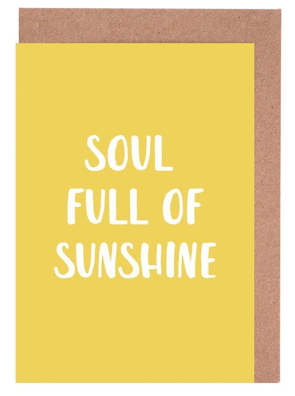 Soul Full of Sunshine -Grußkarten-Set