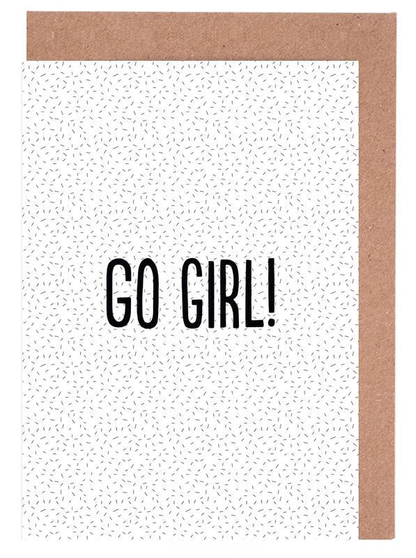 Go Girl! -Grußkarten-Set