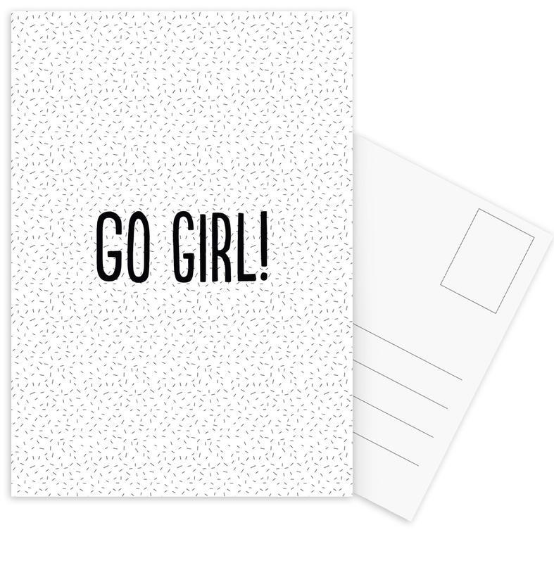 Go Girl! -Postkartenset