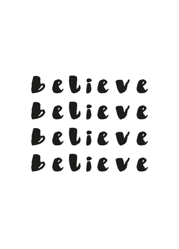 Believe Canvastavla