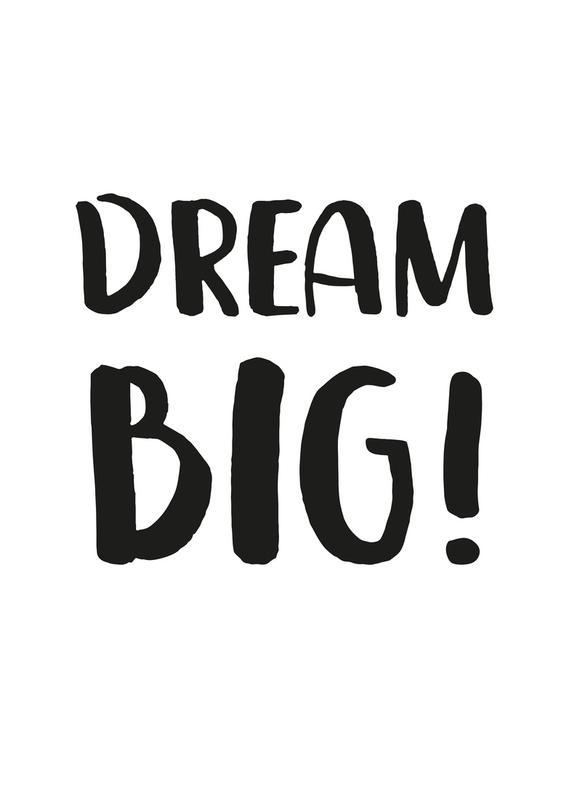 Dream Big Canvastavla