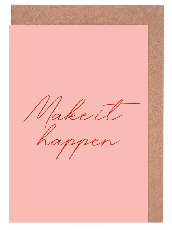 Make it Happen -Grußkarten-Set