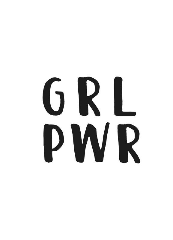 GRL PWR Canvastavla