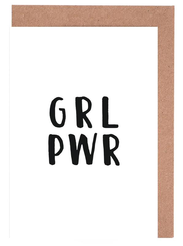 GRL PWR -Grußkarten-Set