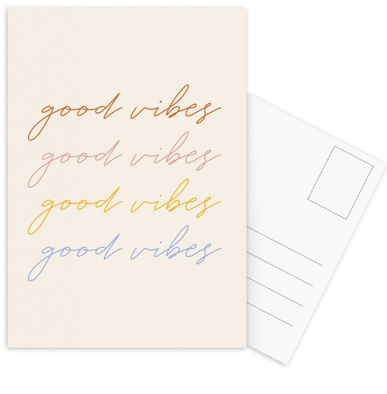 Good Vibes -Postkartenset