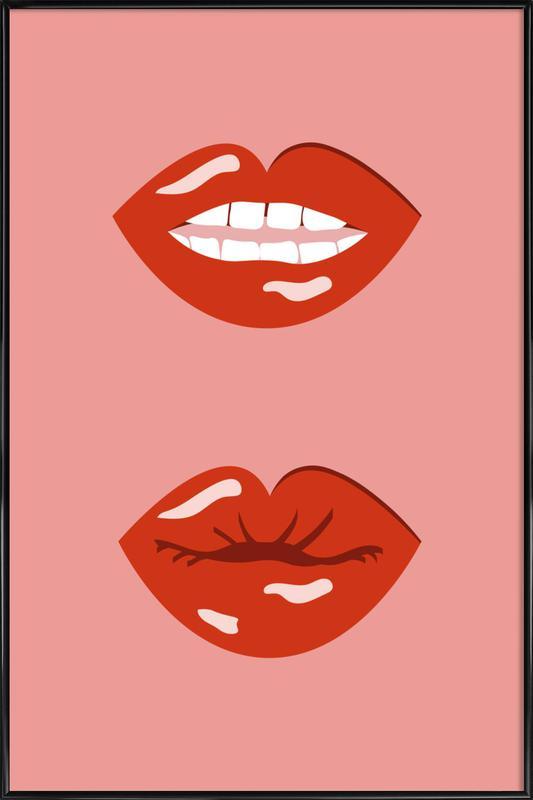 Lips Poster i standardram