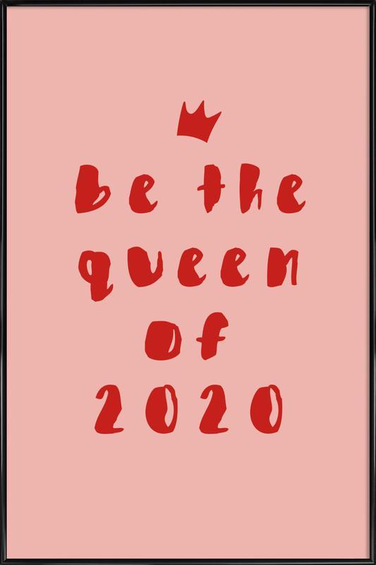 Queen of 2020 -Bild mit Kunststoffrahmen