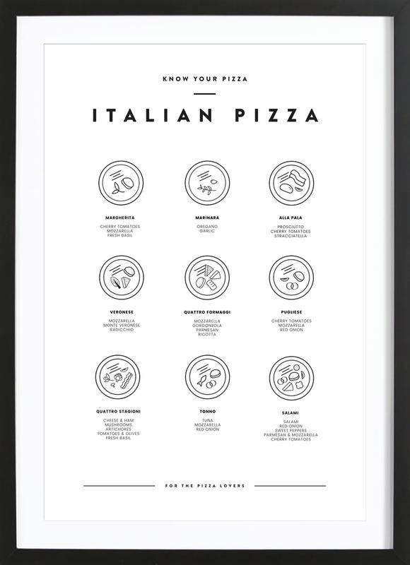 Know your Pizza -Bild mit Holzrahmen