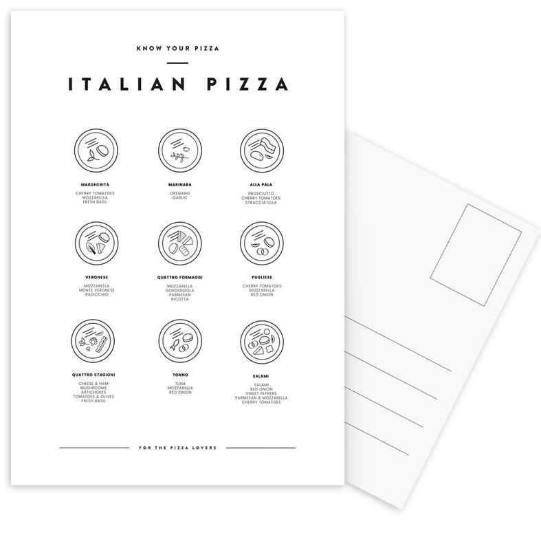 Know your Pizza Postcard Set