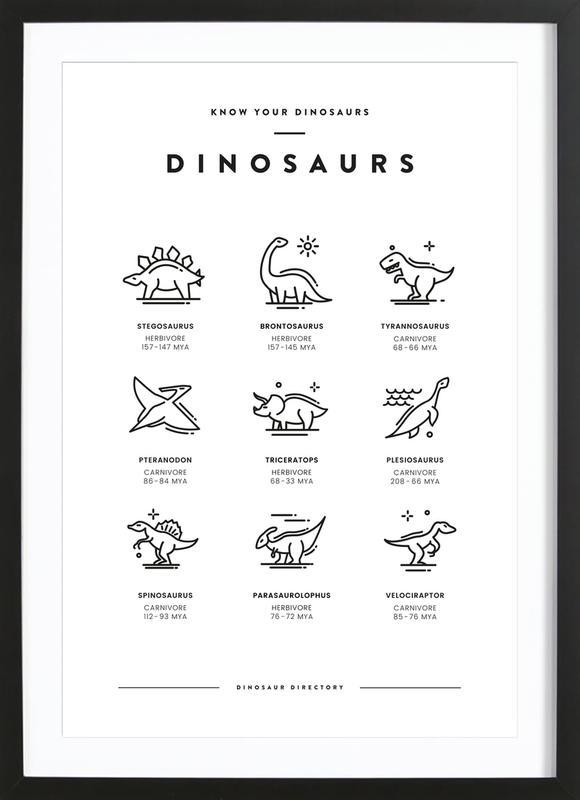 Dinosaurs chart Framed Print