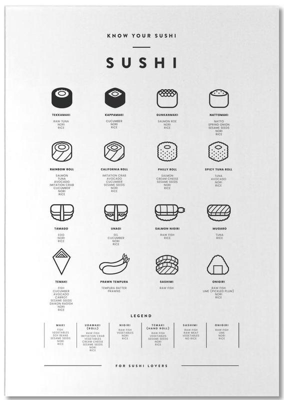 Sushi chart -Notizblock