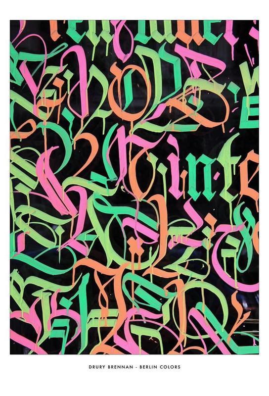 Berlin Colour Aluminium Print