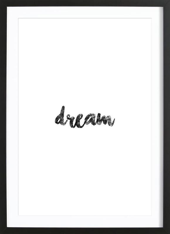 Dream affiche sous cadre en bois