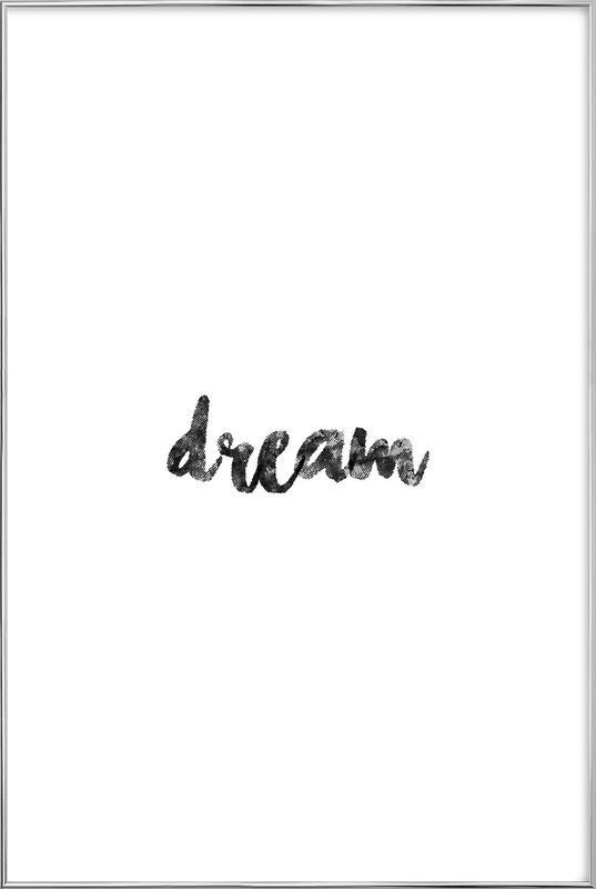 Dream affiche sous cadre en aluminium