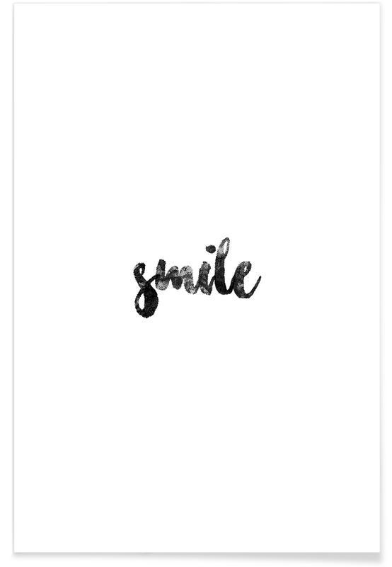 Blanco y negro, Motivacionales, Smile póster