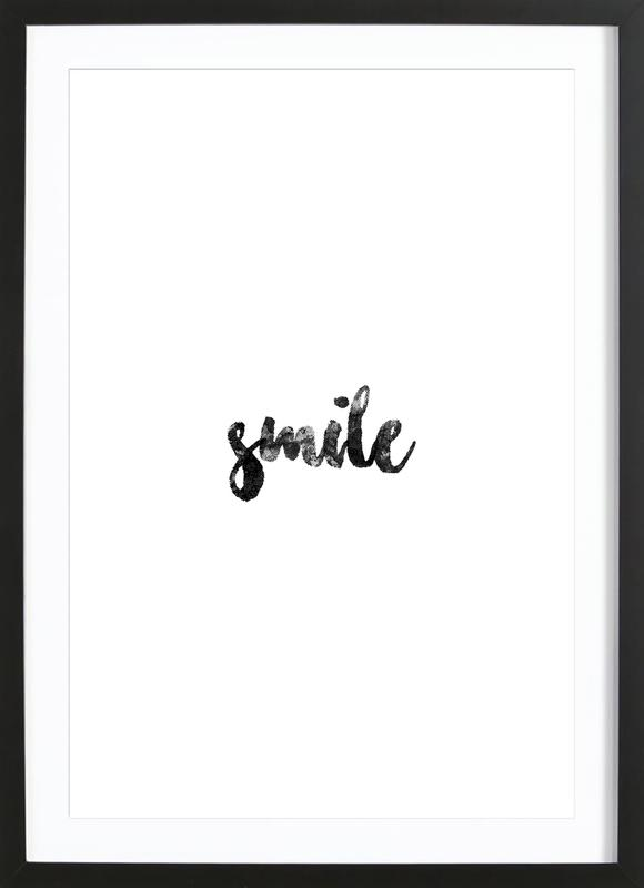 Smile Poster i träram