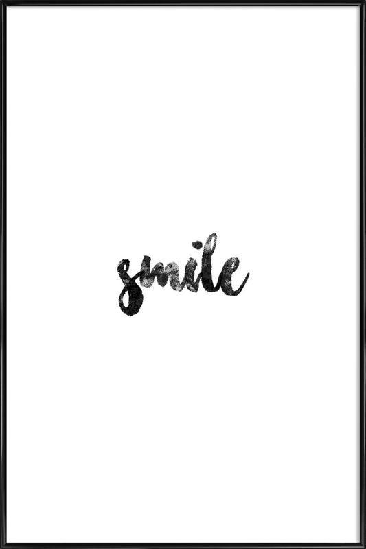 Smile affiche encadrée