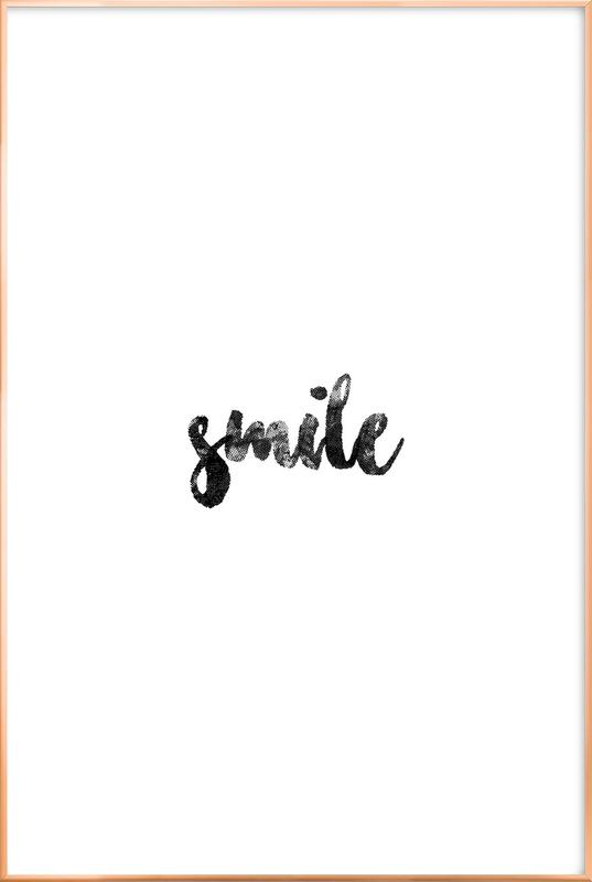 Smile affiche sous cadre en aluminium