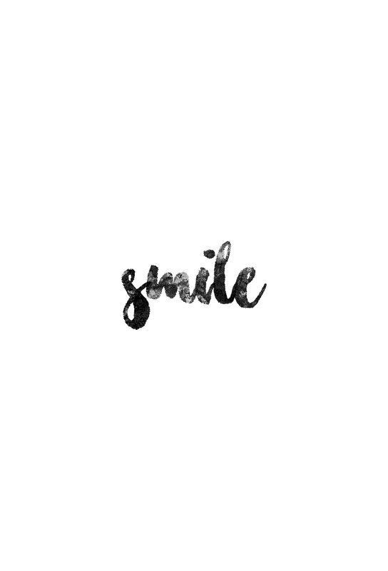 Smile Aluminium Print