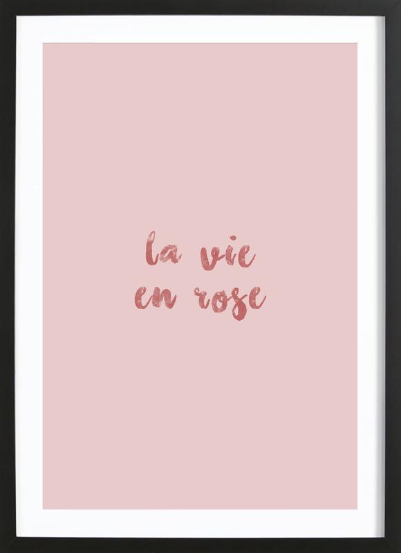 La Vie En Rose affiche sous cadre en bois