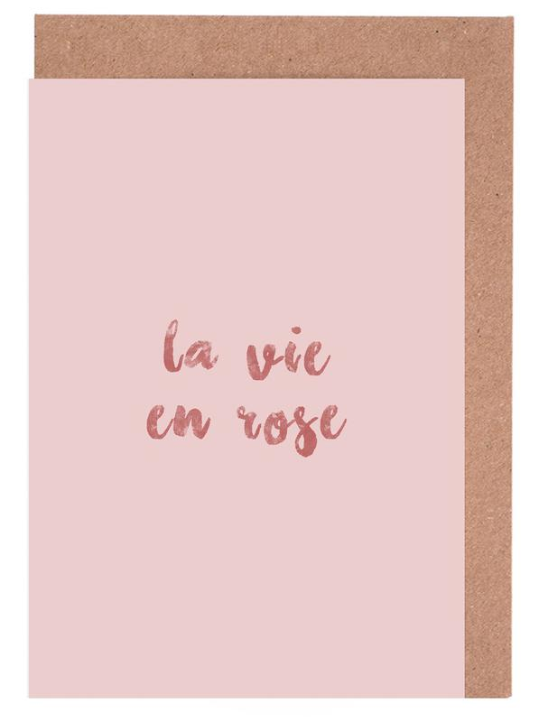 La Vie En Rose Greeting Card Set