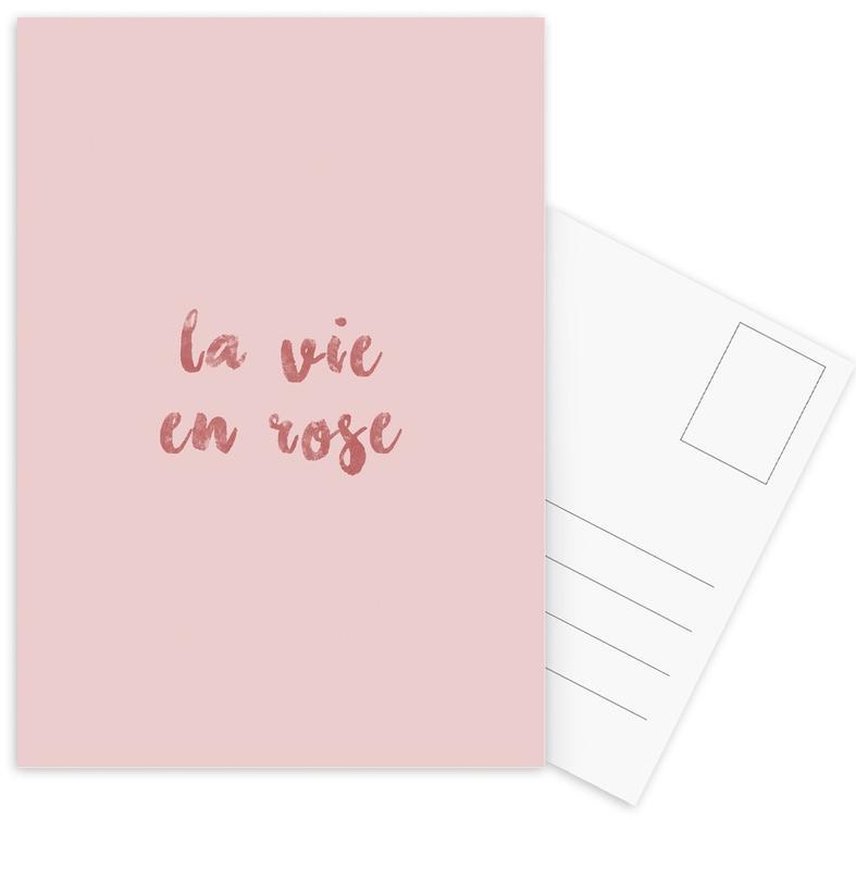 La Vie En Rose -Postkartenset