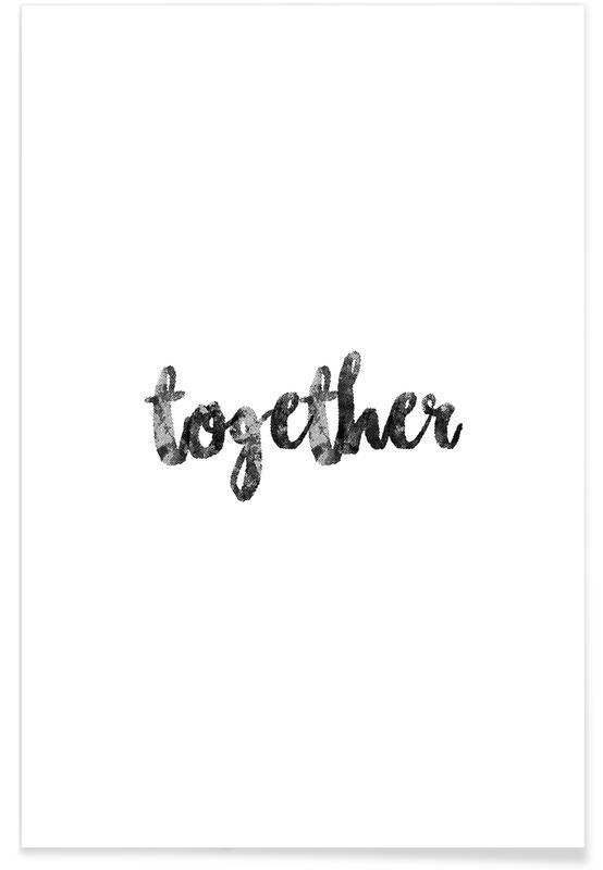 Noir & blanc, Anniversaires de mariage et amour, Together affiche