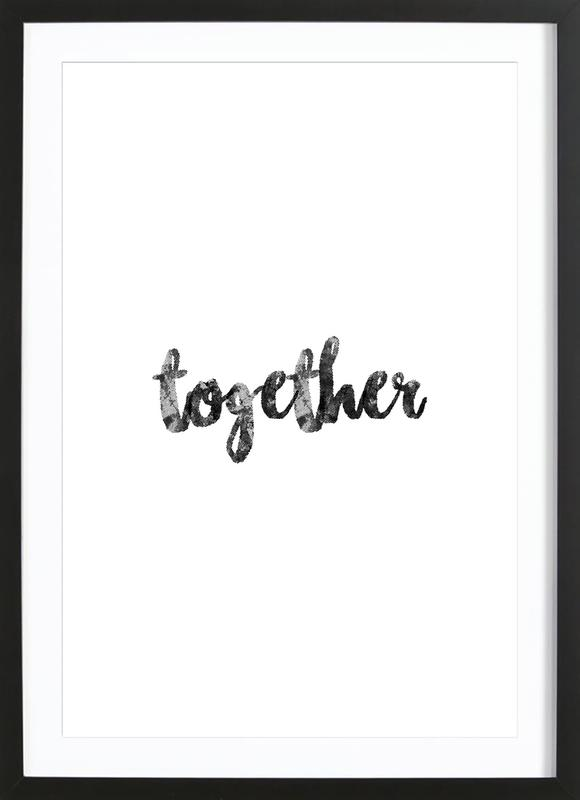 Together affiche sous cadre en bois