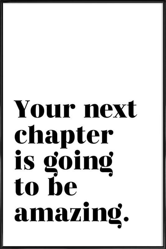 Next Chapter ingelijste poster