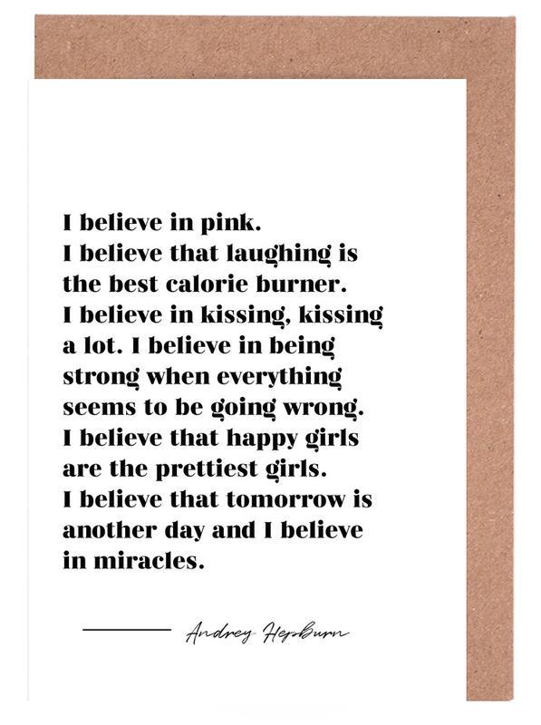 Believe in Miracles -Grußkarten-Set