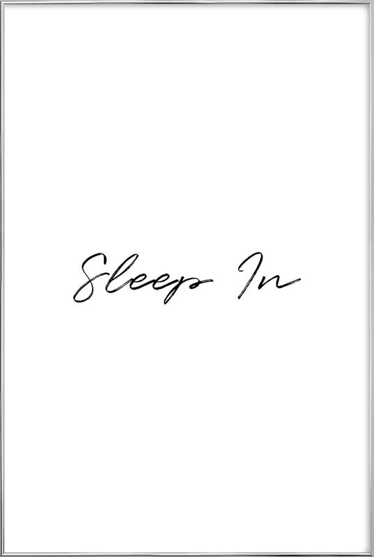 Sleep In affiche sous cadre en aluminium