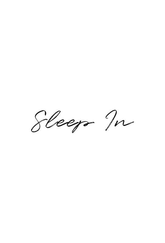 Sleep In Impression sur alu-Dibond