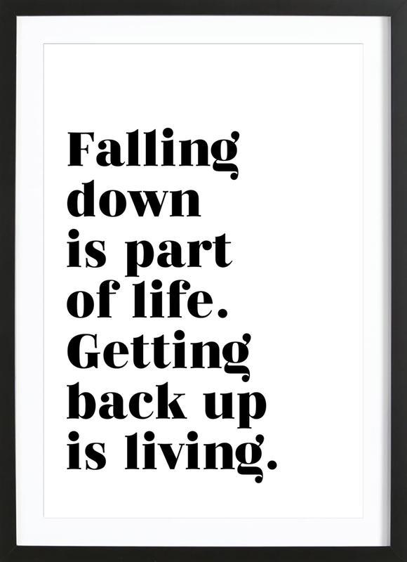 Get Back Up affiche sous cadre en bois