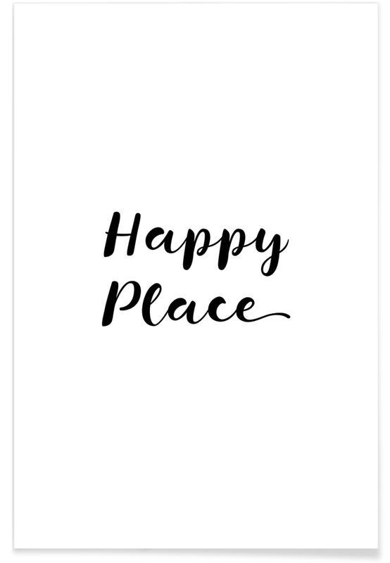 Schwarz & Weiß, Motivation, Happy -Poster