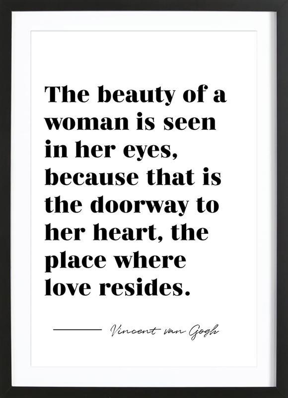A Woman's Beauty affiche sous cadre en bois