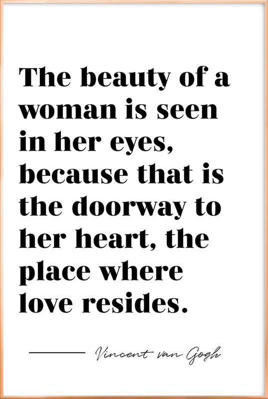 A Woman's Beauty poster in aluminium lijst