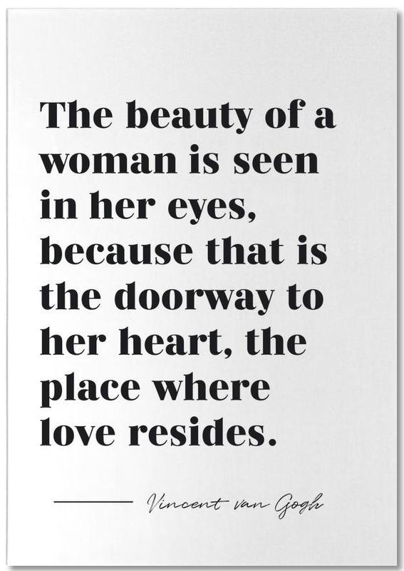 A Woman's Beauty bloc-notes