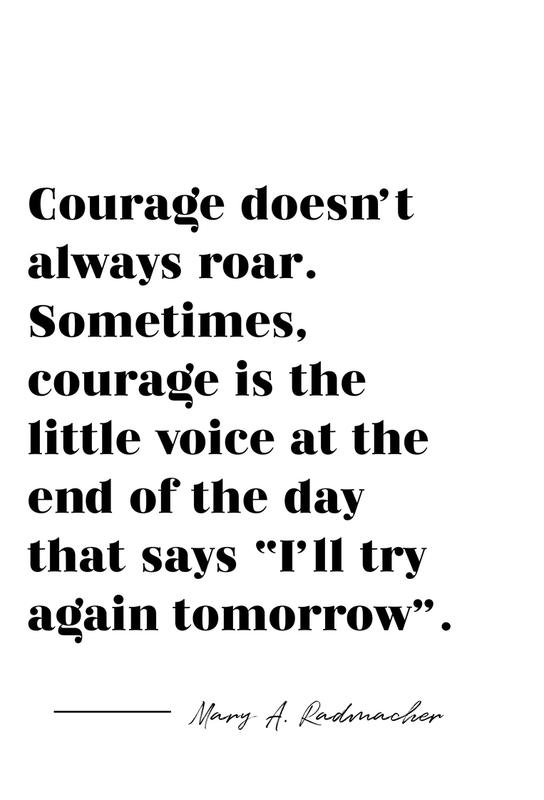 Courage acrylglas print