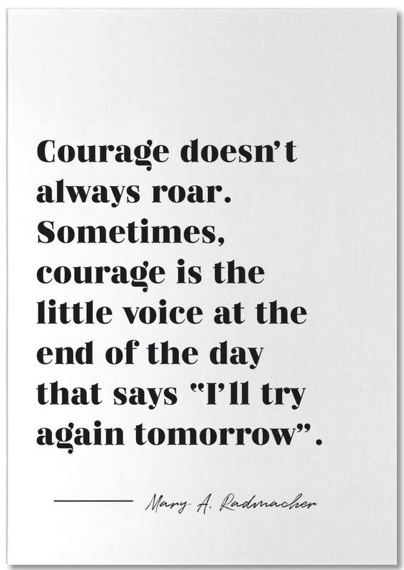 Courage -Notizblock