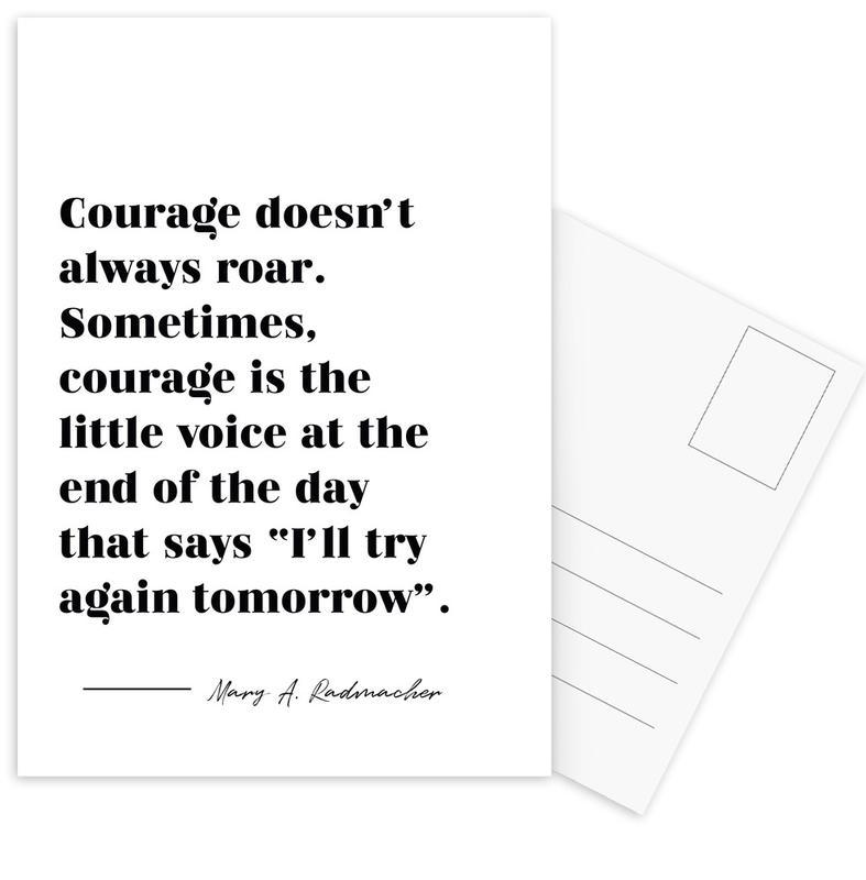 Courage -Postkartenset